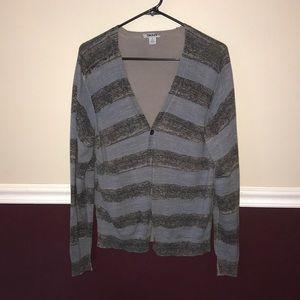 DKNY Striped Cardigan - Medium